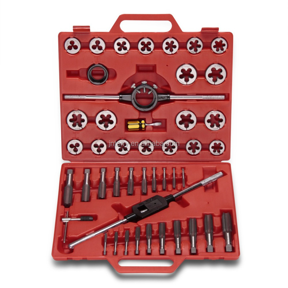 45pcs Threading Screw Tap and Die Set with high quality