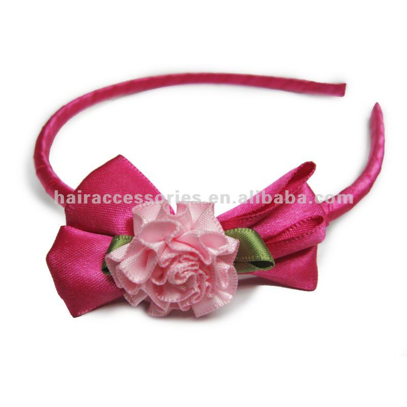 Rose flowers bow kid's headband