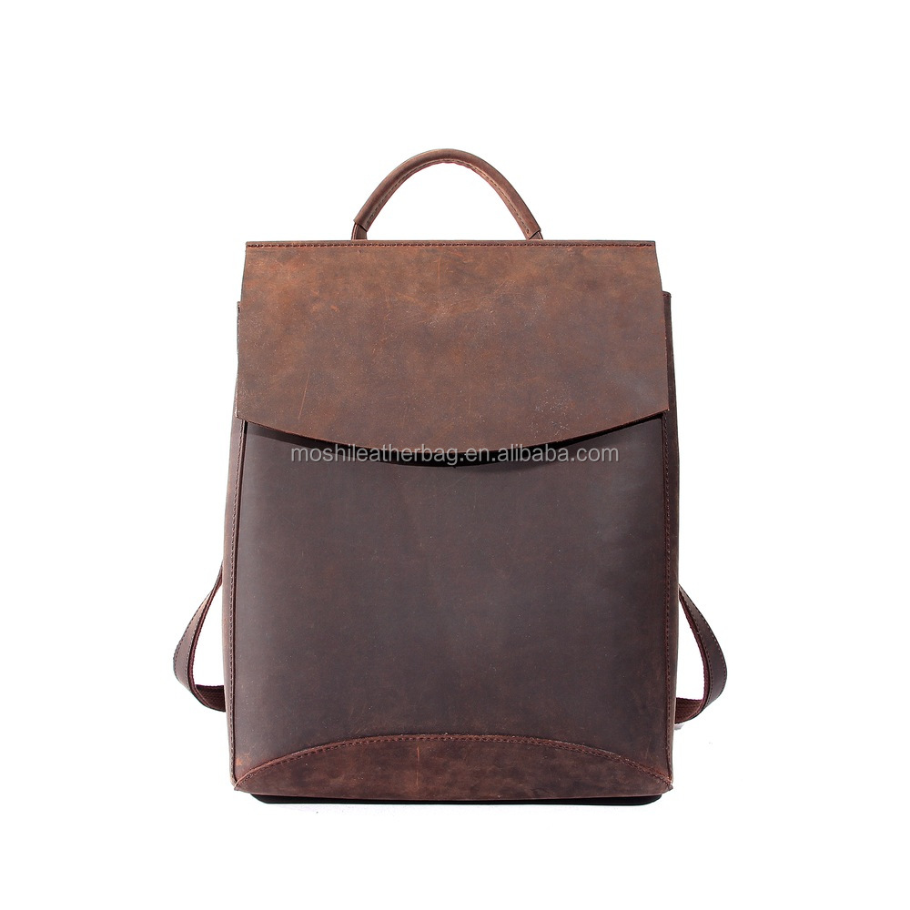 Western Style Vintage Women Backpack Leather