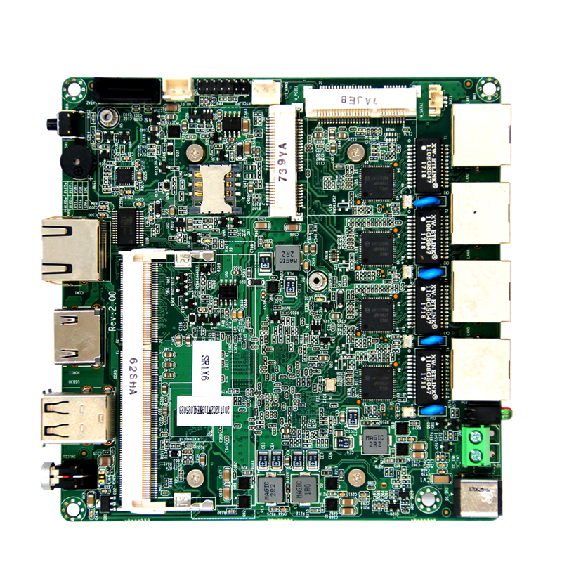<strong>120</strong> x <strong>120</strong> mm J1900/N2900 dual fanless CPU motherboard with onboard 32/64/128G EMMMC optional chipset