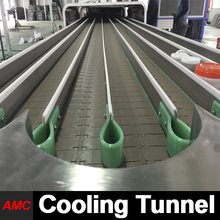 AMC China Supplier Cost Saving steamed seafood cabinets Cooling Tunnel Machine For Production Line