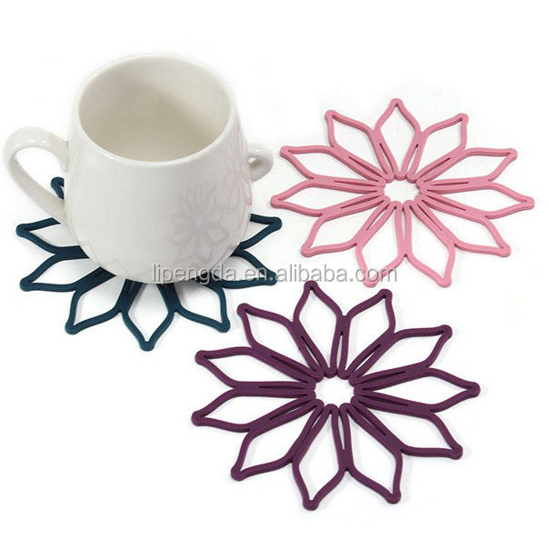 Hot sale silicone heat insulation coffee cup mat / coaster