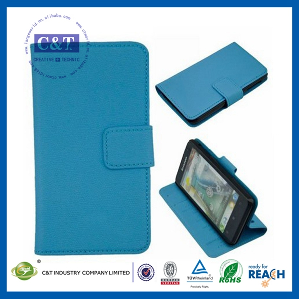 C&T Leather Flip stand cover case for lenovo p770