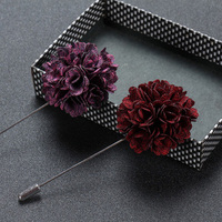 2017 High quality colourful flower men's lapel pins made in china