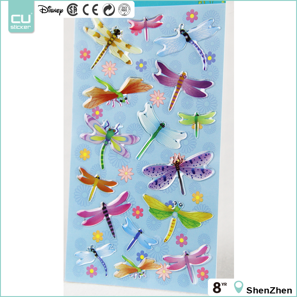Colorful patterns removable epoxy sticker 3d epoxy floor for kids