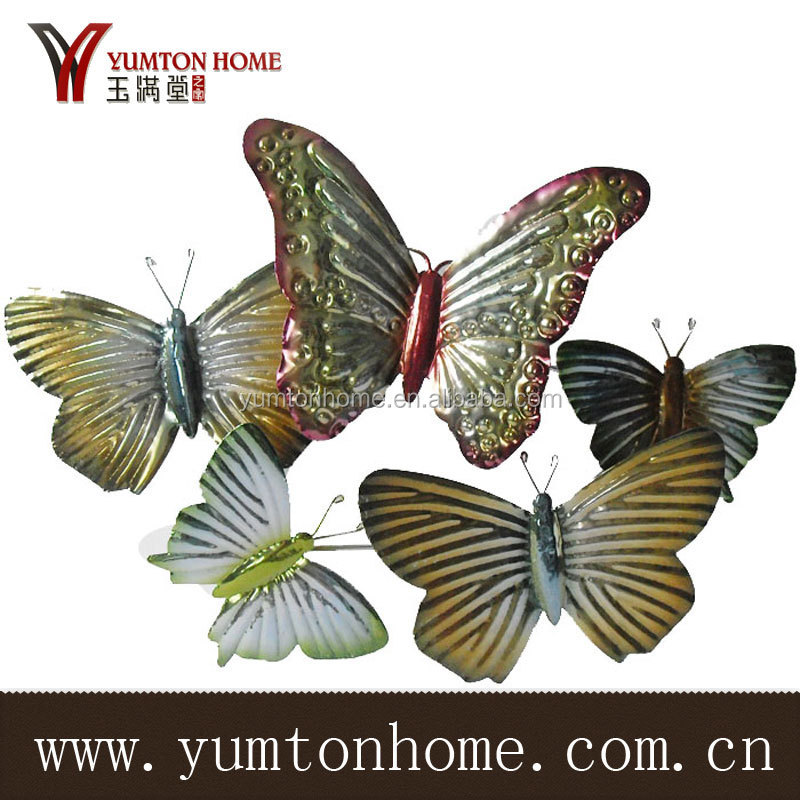 2015 beautiful Metal butterfly for garden decoration