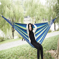 Outdoor Leisure Cotton Swing hanging Hammocks Chair Portable Camping Hammock