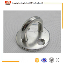Stainless steel pad eye with round base