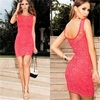 2014 Women Sexy Lace Cocktail Prom Party Evening Cocktail Bodycon Mini Dress