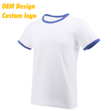 Customised Promotional Plain O Neck Ringspun Short Sleeves white female Tee