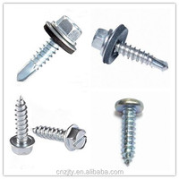 Screws and nails producer of hex head steel self drilling screw roofing screws
