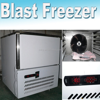 Blast freezer for freezing 3 pans meat