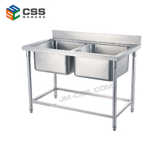 Round Tube Restaurant Stainless Steel Sink Work table