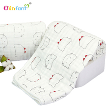 Elinfant baby muslin swaddle 100% cotton fabric comfortable blanket for baby