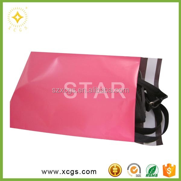 Matte poly mailing bags/colored poly plastic mailer with logo