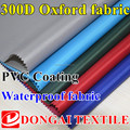 300d Oxford fabric with PVC coating waterproof fabric for bag tent