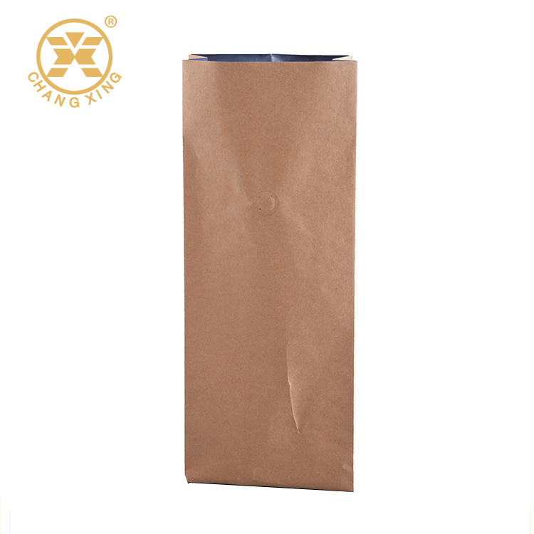 Mentalized aluminum oil side gusset coffee bags