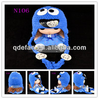 Ready to ship! Children winter knit hat earflap crochet knitting beanie for baby L,XL,XXL,XXXXL