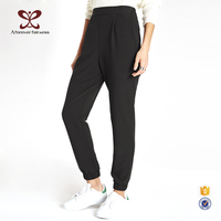 2016 Latest fashion Ladies Capri Trousers, Causal Pants Woman Trousers,Loose Black Trousers