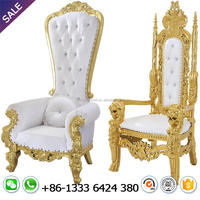 Hot selling wholesale cheap high back queen king throne chair for rental wedding party