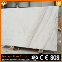 Fashionable tiles and marbles white marble Volakas imported marble stones