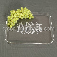 top elegant acrylic lap tray with cushion