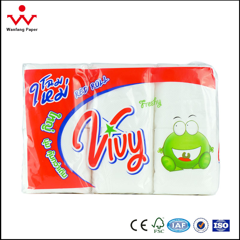 Standard roll 2ply China manufacturing embossed toilet paper