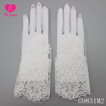 G9831M2lace applique wedding bridal lady glove  Fingerless wedding lace glove