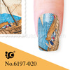 2014 new nail art product decal water coat