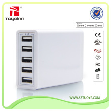 QC 2.0 Qualcomm Quick Charge 2.0 Battery Charger with 5 USB Ports 38W