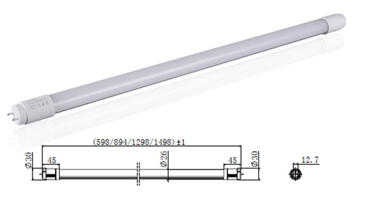 CE& RoHS Approved Waterproof 900mm length led tube for Household Lighting Usage 120lm/w T8 led tube lamp