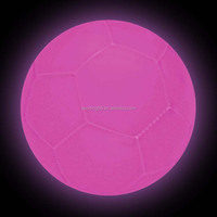 Noctilucent football JFFB078 pink light football Luminous material football PVC leather Machine-Stiched PVC Football