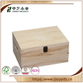 BSCI &FSC handmade hinged unfinished pine wooden hamper boxes