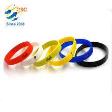 Customized Assorted Multi Color Team Activity Printing Various Message Silicone Bracelet Custom