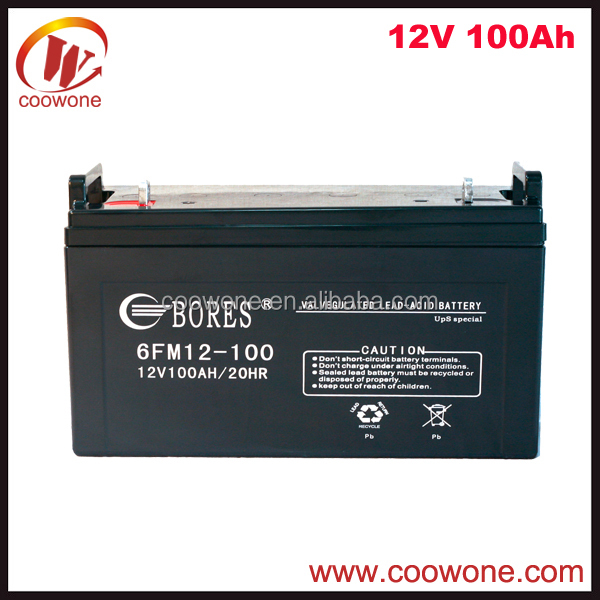 Sealed Plastic Waterproof 12V 100AH 200AH Solar Battery Box