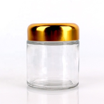 120ml glass jar for flower tea with screw cap for food storage wholesale