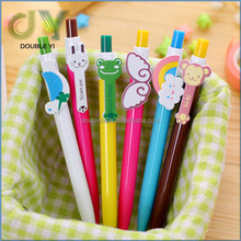 Novelty candy color cartoon characters plastic ball pen