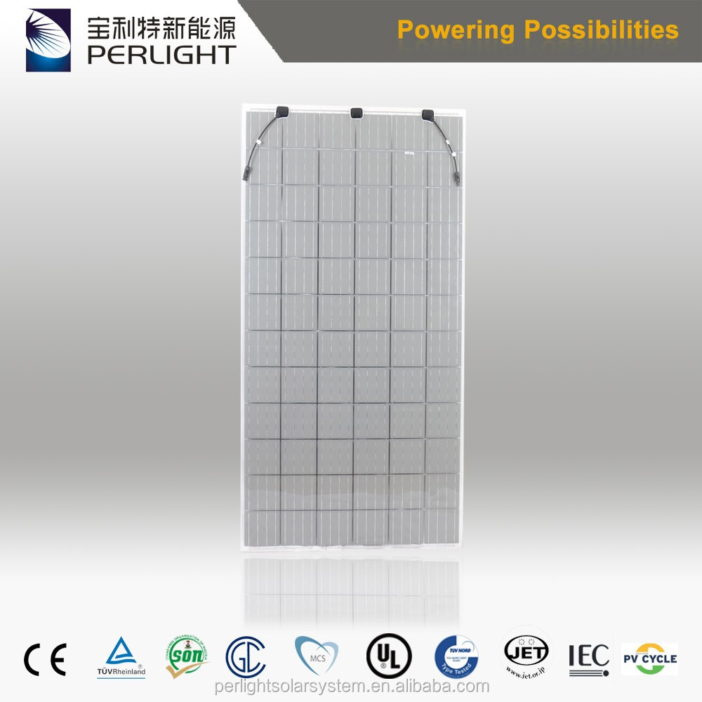 High transparent double glass monocrystalline solar panel 280w 290w for BIPV use