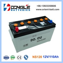 NS120 Super Power Dry Cell Car Battery 12V 100Ah and 110Ah