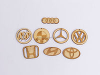 Wood Crafts, Different Wood Carving Car Logos