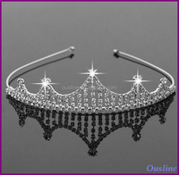 tiara crown for young girls, fancy crystal tiara