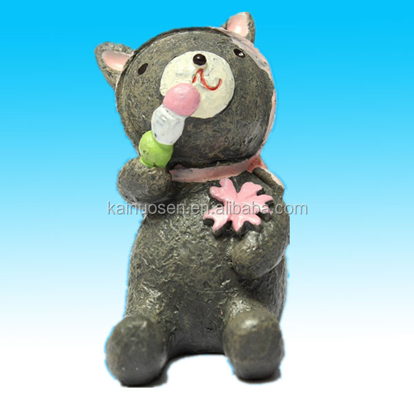 cute little bear resin animal craft statues for sale