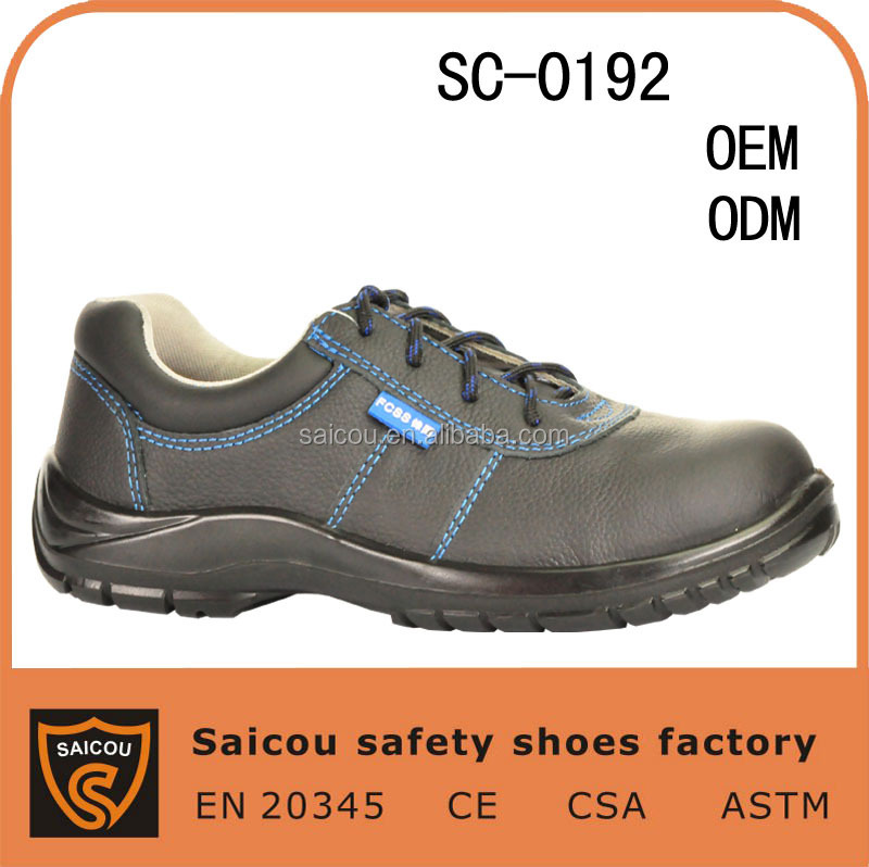 2015 cheap industrial steel toe women safety shoes and leather unisex safety shoes manufacturer SC-0192