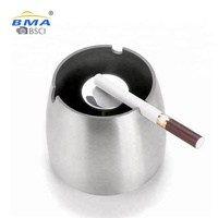 modern square / round iron stainless steel cigar metal windproof ashtray