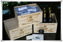 Wholesale Custom Cheap Made-in-China Wooden Wine Crate for Sale