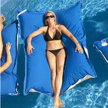 100% polyester waterproof fabric large pool floating water bean bag