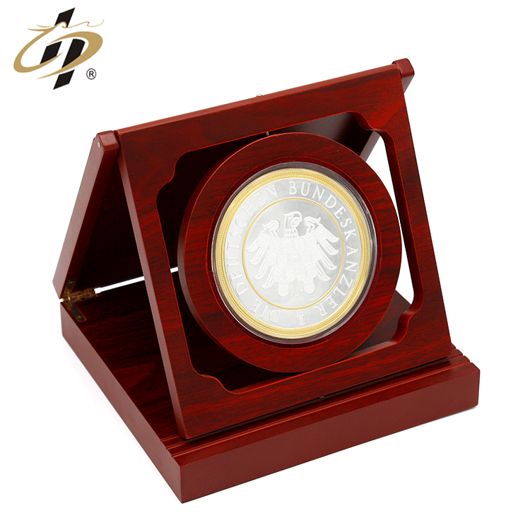 Popular sales Originality Custom zinc alloy 3d  Gold inlaid silver  challenge award souvenir medallion coin