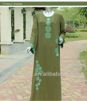 Muslim accessories Muslim Long Sleeve Abaya with Paillette and Embroidery