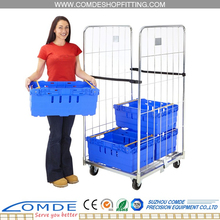 OEM Supermarket Steel Folding Roll Cage Container With Factory Price