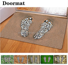 Wholesale Recycled Rubber Flocking Door Mat